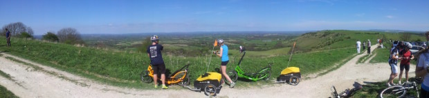 Ditchling Beacon- incredible views but an thigh buster of a cycle up!